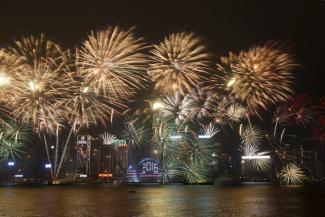 Fuochi d'artificio sulla città